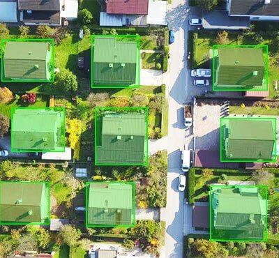 2D aerial view imagery mapping