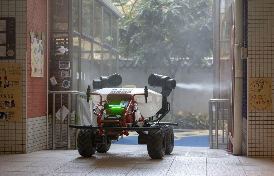 XAG-R80-Disinfetant-Spraying