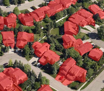 Aerial View Mapping of Urban Houses